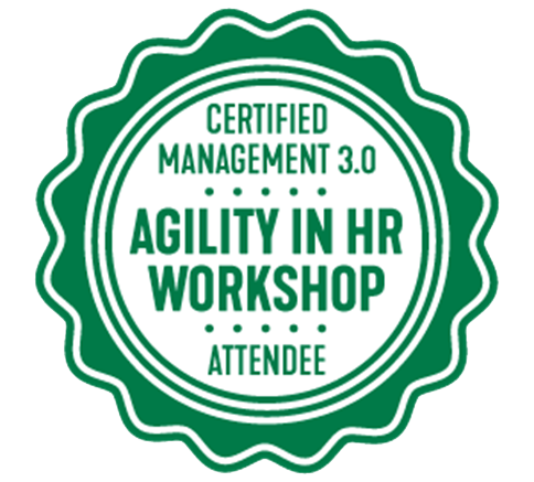Agility in HR by Management 3.0 Zertifikat